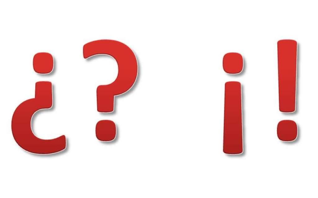 signos de interrogación y exclamación dobles