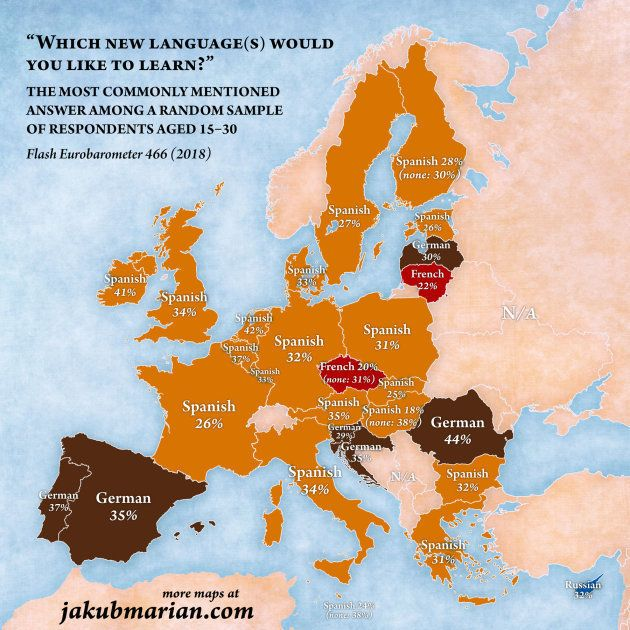 El Español El Idioma Que Quieren Aprender La Mayoría De Jóvenes Europeos Cursos De Español En España Salamanca Salminter